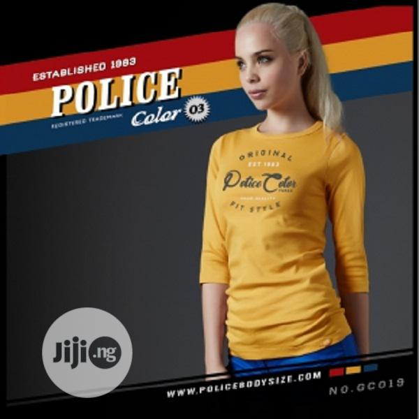 Police Gc019 Medium Size Long Sleeve T-Shirt | Clothing for sale in Surulere, Lagos State, Nigeria