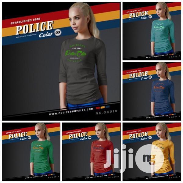 Police Gc019 Medium Size Long Sleeve T-Shirt