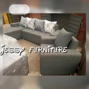 New Set of L-Shaped Fabric Sofa With One Single    Furniture for sale in Lagos State, Ilupeju