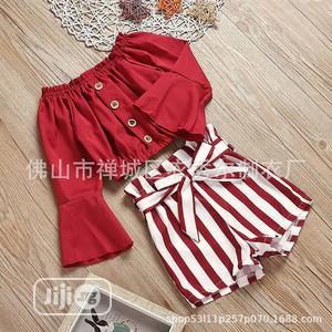 2pc Off Shoulder Top and Shorts | Children's Clothing for sale in Abuja (FCT) State, Jabi