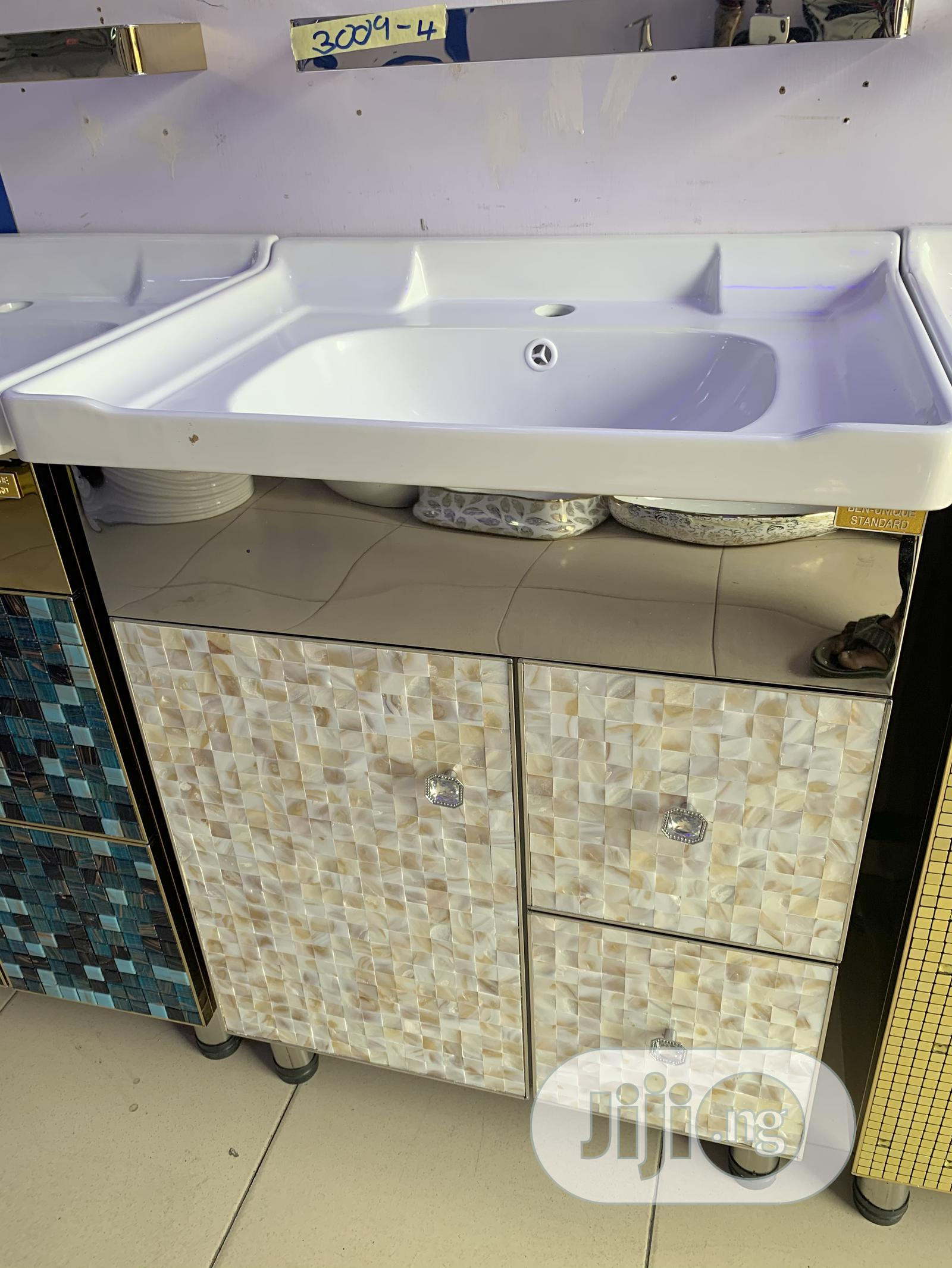 Archive: Stainless Cabinet Basins With LED MIRRORS