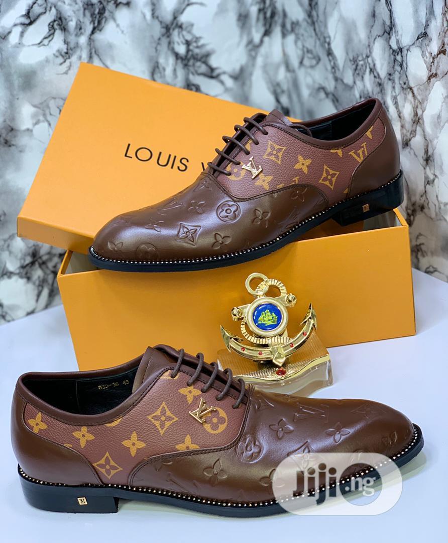 Louis Vuitton Luxury Men Leather Shoes