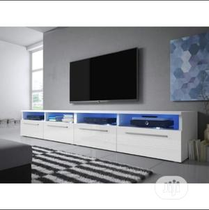 """Double Tv Stand for Tvs Up to 88"""" White   Furniture for sale in Lagos State, Lekki"""