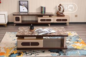 Glass Top (Wooden) Tv Stand and Centre Table. | Furniture for sale in Lagos State, Ikotun/Igando