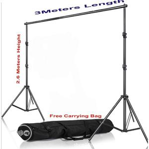 Adjustable Photo Background 2.6 X 3M Stand With Free Bag | Accessories & Supplies for Electronics for sale in Abuja (FCT) State, Asokoro