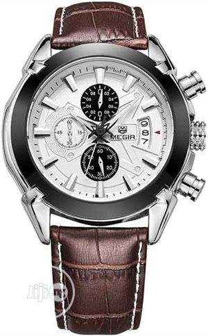 Men's Military Sports Classic Quartz Watches Chronograph Lea | Watches for sale in Ondo State, Akure