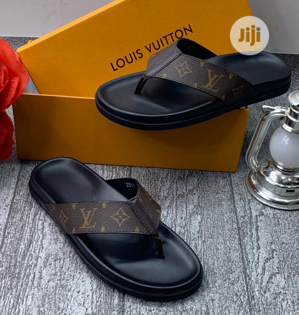 Louis Vuitton Luxury Men Leather Slippers   Shoes for sale in Lagos Island (Eko), Lagos State, Nigeria