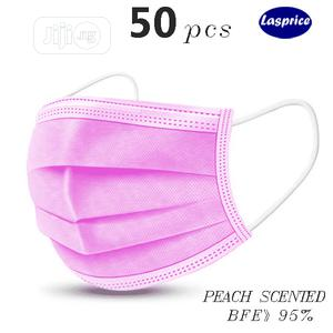 Pink Color Peach Scented Disposable Face Mask 3 Ply 50 Pcs   Medical Supplies & Equipment for sale in Lagos State, Ikeja