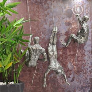 Climbing Men Wall Hangings in Silver Finish (Set of 3) | Arts & Crafts for sale in Lagos State, Lekki