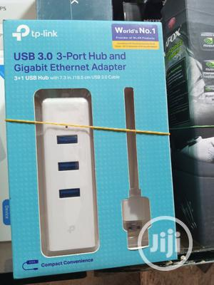 USB 3.0 3-Port Hub and Gigabit Ethernet Adapter | Computer Accessories  for sale in Lagos State, Ikeja