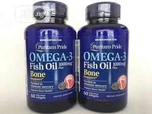 Puritan's Pride Omega-3 Fish Oil 1000 Mg Plus Bone Support * | Vitamins & Supplements for sale in Lagos State, Ojo