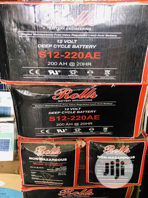 220AH Rolls Battery Is Available With 2yrs Warranty   Solar Energy for sale in Lagos State, Ikeja