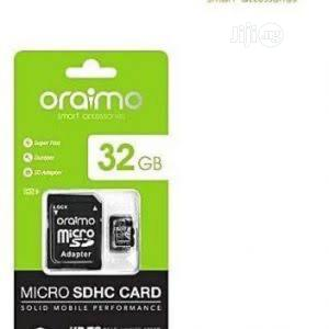 Oraimo 32gb Memory Card (Micro Sdhc) - Class 10 | Accessories for Mobile Phones & Tablets for sale in Abuja (FCT) State, Wuse