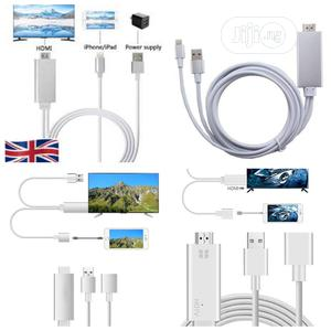 Lightning to HDMI Cable Adapter HDTV Cable for iPhone,iPods | Accessories for Mobile Phones & Tablets for sale in Lagos State, Alimosho