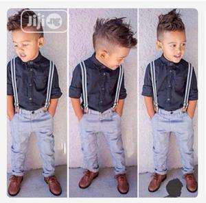 Children'S Clothing 2 Pcs Suit Shirt + Overall | Children's Clothing for sale in Lagos State, Ajah