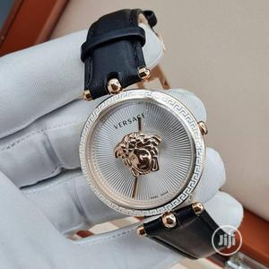 High Quality Versace Silver Dial Leather Watch   Watches for sale in Lagos State, Magodo