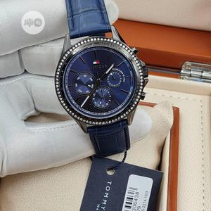 High Quality Tommy Hilfiger Blue Dial Leather Watch   Watches for sale in Lagos State, Magodo