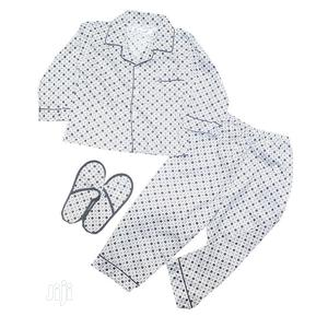 Unisex Two Pieces Pyjamas With Bedroom Slippers-Navy Blue | Children's Clothing for sale in Lagos State, Ojota