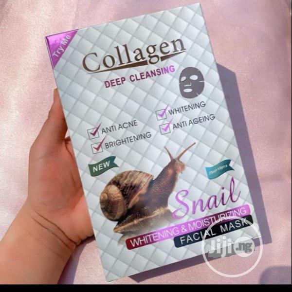 Deep Cleansing Snail Collagen Moisturizing Facial Mask