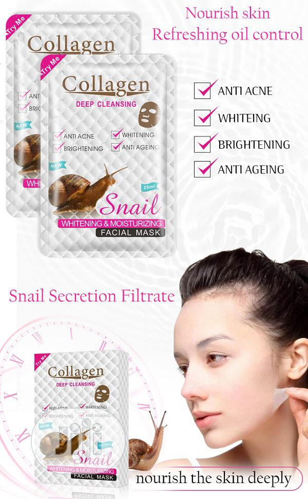 Deep Cleansing Snail Collagen Moisturizing Facial Mask | Skin Care for sale in Surulere, Lagos State, Nigeria