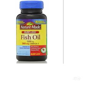 Nature Made Fish Oil, Omega-3, Burp-Less, 1200 Mg, 60 Liquid   Vitamins & Supplements for sale in Lagos State, Amuwo-Odofin