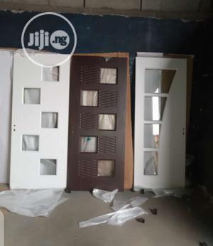 840 Hardwood Door With Glass   Doors for sale in Lagos State, Orile