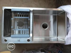 Quality Stainless Kitchen Sink (Hand Made Double Bowl) | Plumbing & Water Supply for sale in Lagos State, Lekki