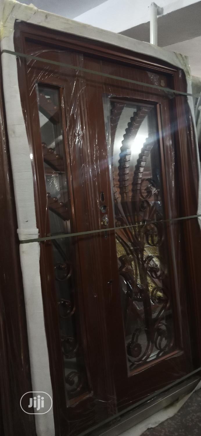 Archive: 4ft by 7ft Copper Security Door With Glass