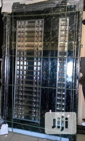 4ft by 7ft Marble Stainless Glass Door   Doors for sale in Lagos State, Orile