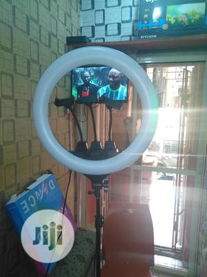 18inches Ring Light With Remote Control 3 Phone Holders | Accessories & Supplies for Electronics for sale in Lagos State, Lagos Island (Eko)