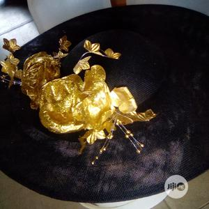 Lovely Gold and Black Wide Brim Fascinator   Clothing Accessories for sale in Lagos State, Lekki