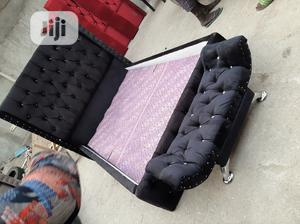 4by6 Upholstery Bed Frame With Footstool | Furniture for sale in Lagos State, Ojo