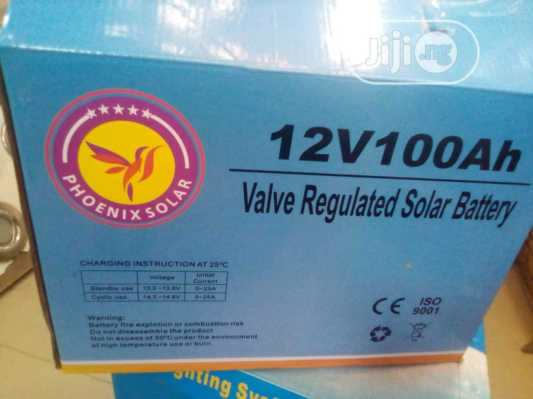 Archive: 100amhs /12v, Solar Battry Available With Warrantty.