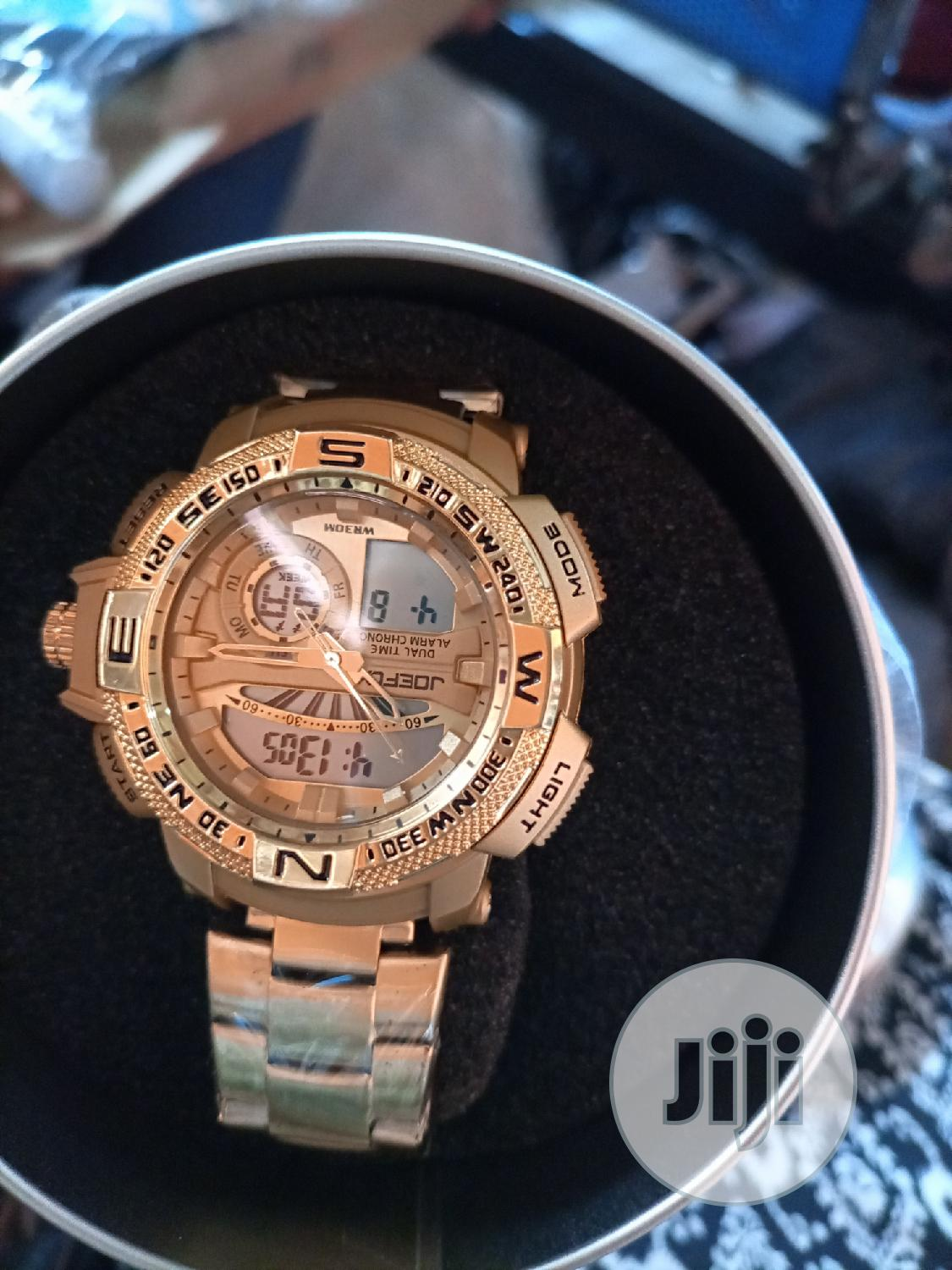 Water Resistant Gold Wrist Watch | Watches for sale in Ifako-Ijaiye, Lagos State, Nigeria