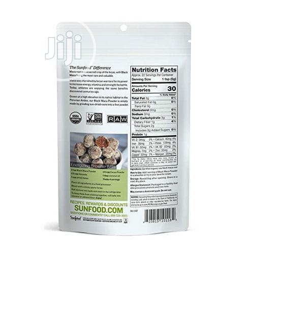 Sunfood Superfoods Black Maca Powder Raw, Organic. 4 Oz/113g | Vitamins & Supplements for sale in Amuwo-Odofin, Lagos State, Nigeria
