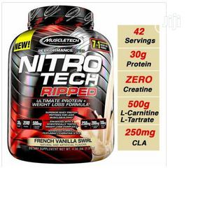 Muscle Tech Nitro Tech Ripped French Vanilla Swirl,4 Lbs   Vitamins & Supplements for sale in Lagos State, Amuwo-Odofin