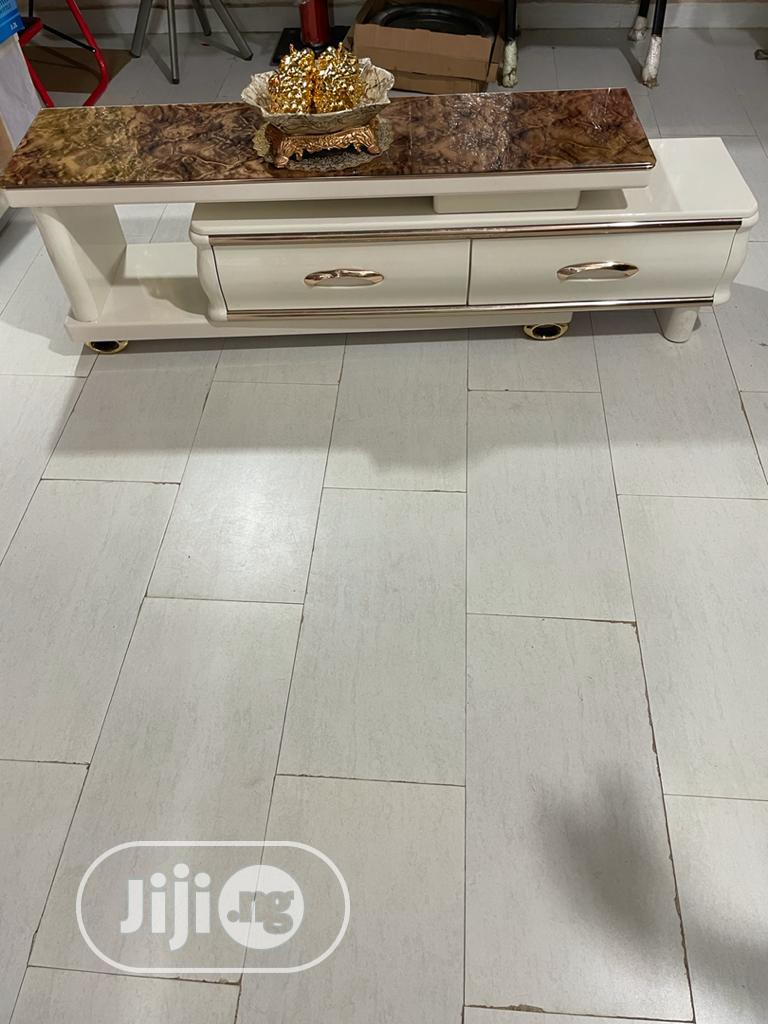 Marble TV Stand With Luxury Finishing | Furniture for sale in Garki 2, Abuja (FCT) State, Nigeria