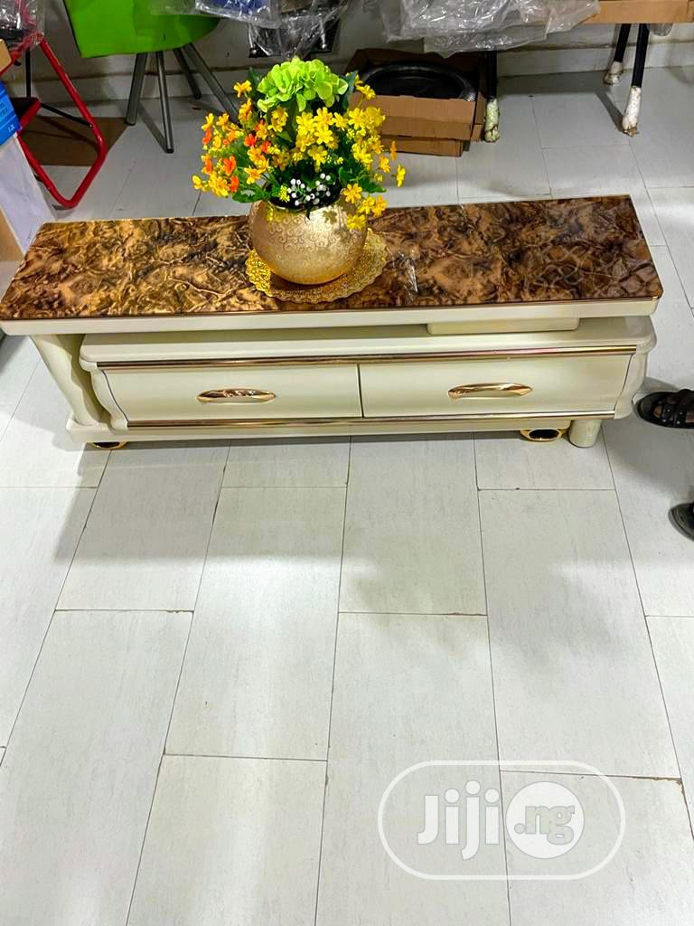 Marble TV Stand With Luxury Finishing