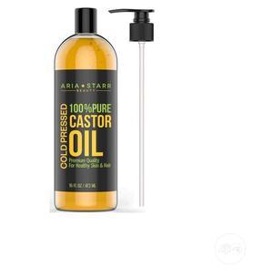 Aria Starr Beauty Castor Oil Cold Pressed 16 FL Oz 100% Pure | Skin Care for sale in Lagos State, Amuwo-Odofin
