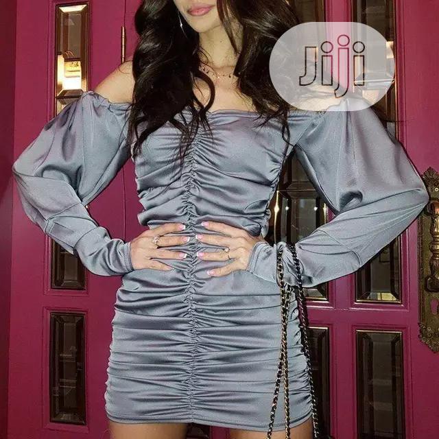 Off Shoulder Long Sleeve Elegant Ladies Mini Party Dress