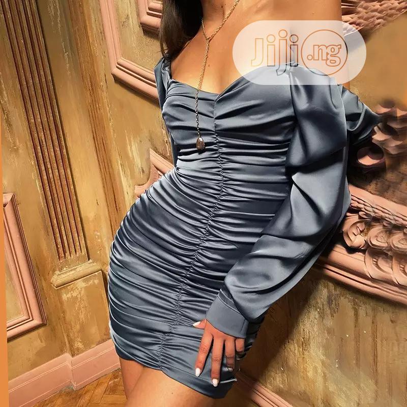 Off Shoulder Long Sleeve Elegant Ladies Mini Party Dress   Clothing for sale in Lekki, Lagos State, Nigeria