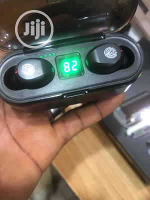 Buds+ Air F9 Max Bluetooth Fingerprint Pod Wth Power Bank | Headphones for sale in Lagos State, Ikeja