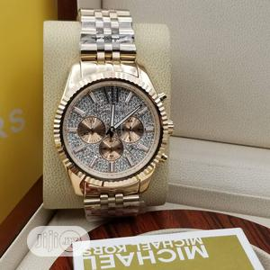 Michael Kors Chronograph Rose Gold Chain Watch for Women's | Watches for sale in Lagos State, Lagos Island (Eko)