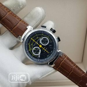 Louis Vuitton (LV) Chronograph Silver Leather Strap Watch | Watches for sale in Lagos State, Lagos Island (Eko)