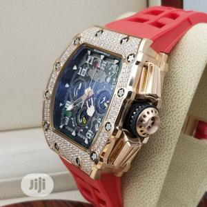 Richard Mille Ice Head Chronograph Rose Gold Rubber Watch | Watches for sale in Lagos State, Lagos Island (Eko)