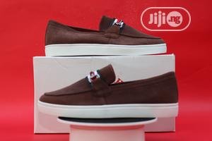 Coffee Brown Leather Suede Loafers | Shoes for sale in Lagos State, Ogba