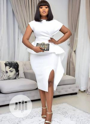 Quality White Female Front Slitted Dress. | Clothing for sale in Lagos State, Ikeja