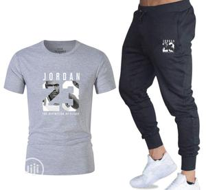 Two-Piece Sports Suit T-Shirt for Men- Fitness Joggers   Clothing for sale in Oyo State, Ibadan