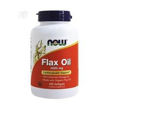 Now Foods Flax Oil 1000 Mg 100 Softgels (Cardiovasular Suppo   Vitamins & Supplements for sale in Lagos State, Amuwo-Odofin