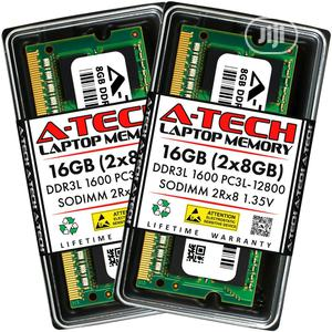 A-Tech 16GB 2 X 8GB PC3L-12800 Laptop DDR3L 1600 Memory | Computer Hardware for sale in Lagos State, Lekki